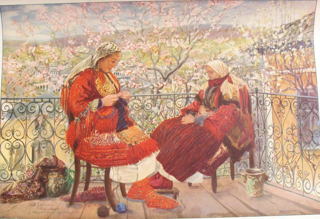 Albert Gartmann 1876-1955 Macedonian Women in Krusewo-1916