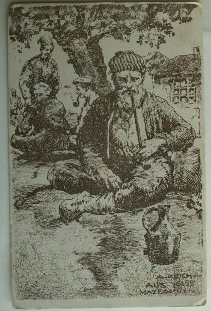 Од Велес, Македонија, репродукција на поштенска картичка