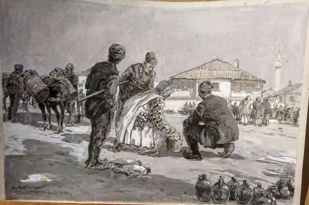 Пазарен ден во Скопје, 1917, гваж
