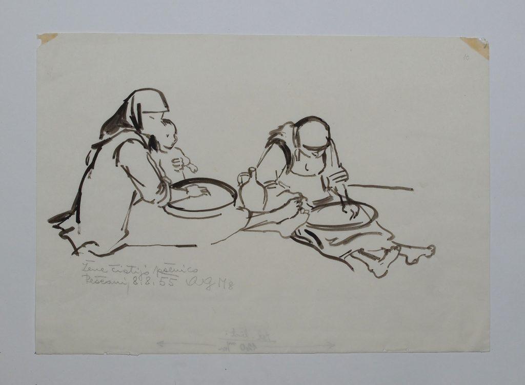 Пештани 1955, цртеж
