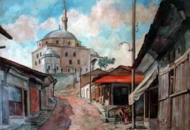 Скопје 1940, акварел