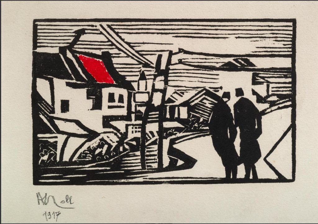 Alexandre-Noll-1890–-1970-Salonique-1917,woodblock-prints-1