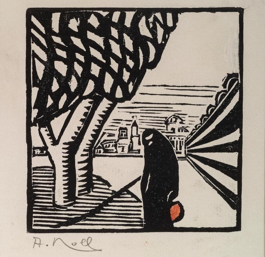 Alexandre-Noll-1890–-1970-Salonique-1917,woodblock-prints