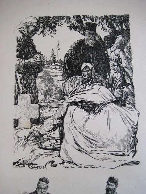 Almery-Lobel-Riche-1880-–-1950-Funeral-1916-lithography