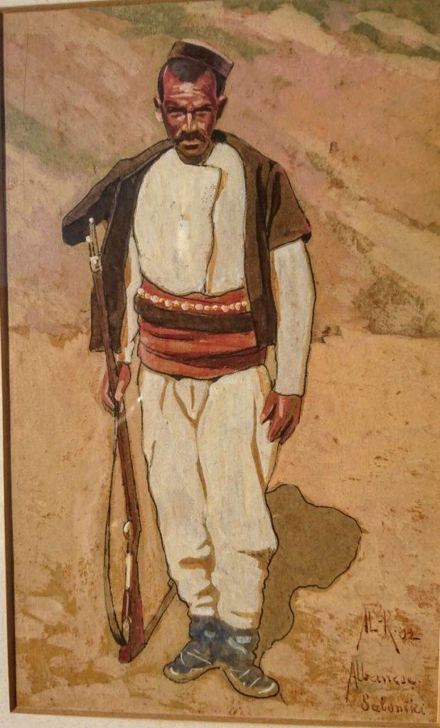 Албански комита Солун 1902 - акварел