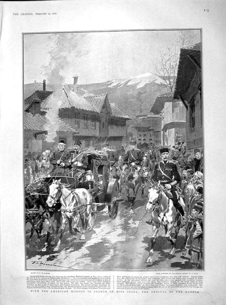 Arrival of the ransom illustration of W.T.Maud for The Graphic UK
