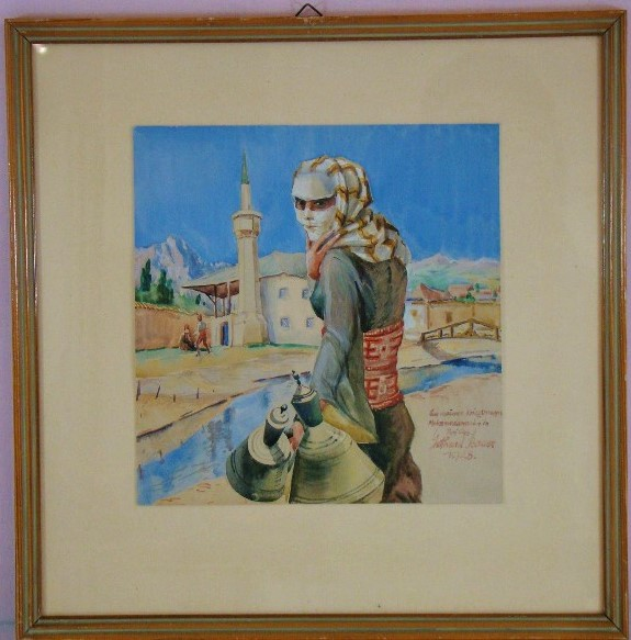 Woman in Prilep, watercolor 1928 (from a sketch from 1916)