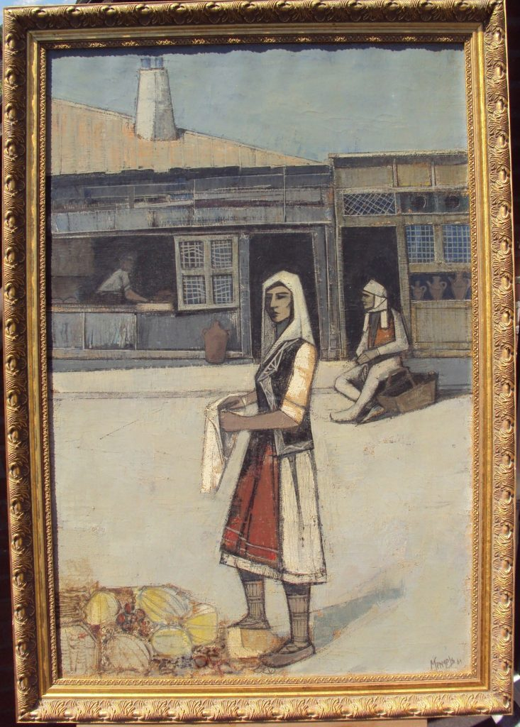 Ber-Mengels-1921-–1995-Macedonian-Girl-1961-oil-on-canvas