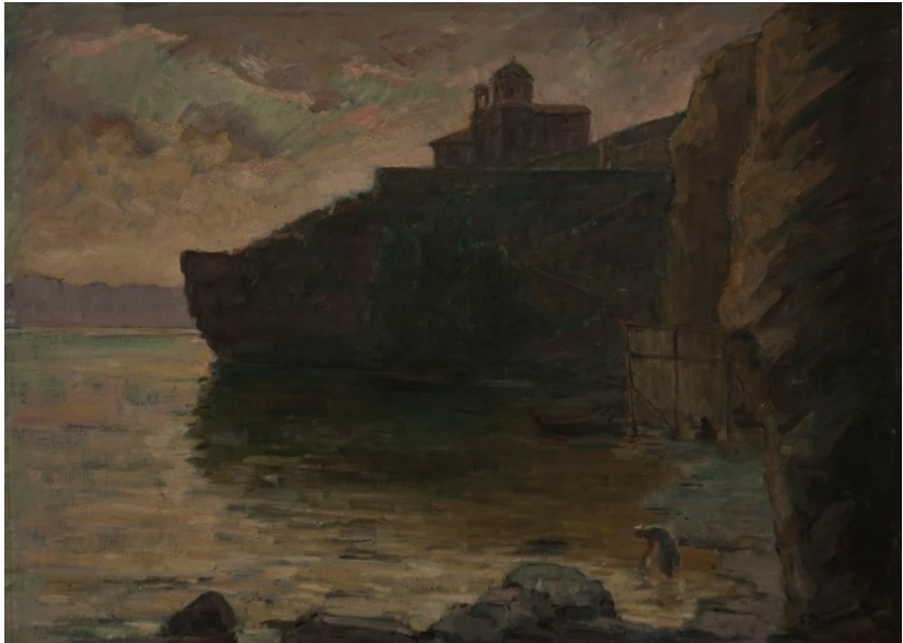 Beta Vukanović (1872– 1972) St. Jovan Kaneo church, Ohrid, oil on canvas 1926