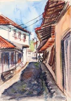 Bogdan Suput 1914-1948 Kratovo 1936 watercolor