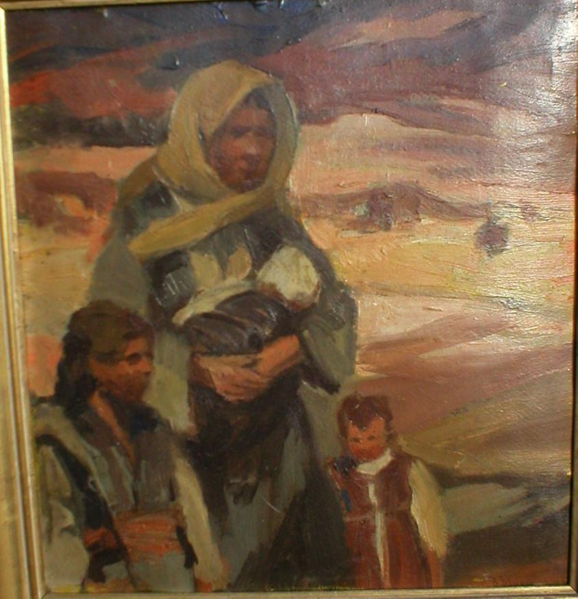 Boris-Mihaylov-1868-–-1921-Macedonian-refugees-1913-oil-on-cardboard