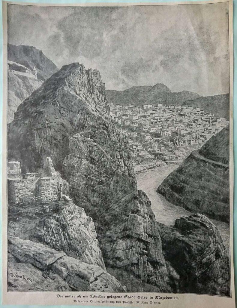Canyon of river Vardar near Veles 1916