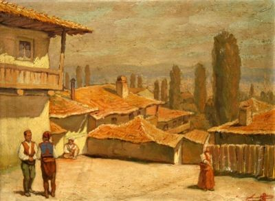 Cermak, View of Berovo, ~1910 oil on canvas