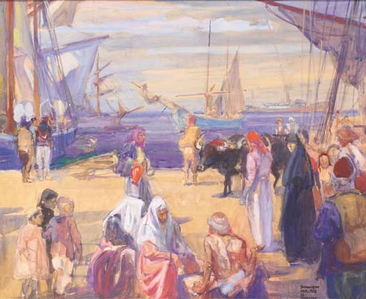 Charles-Fouqeray-1869-1956-Port-a-Salonique-1918