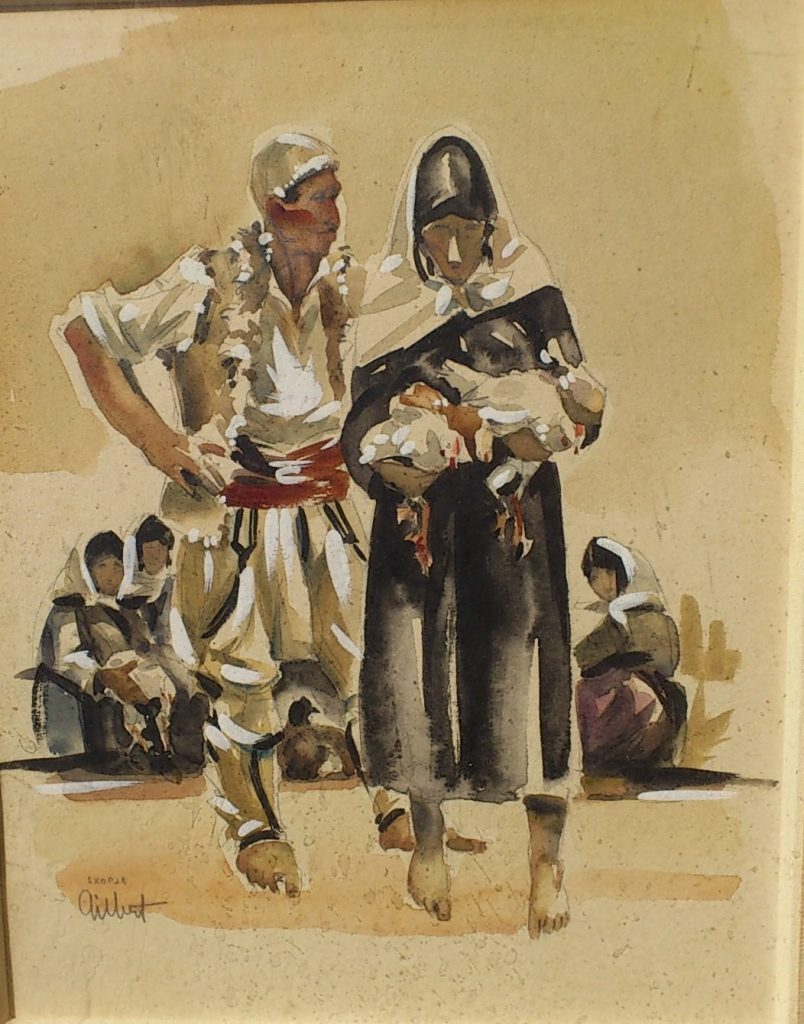 Charles-Gilbert-1906-2000Skopje-1958-folk-dresses-watercolors