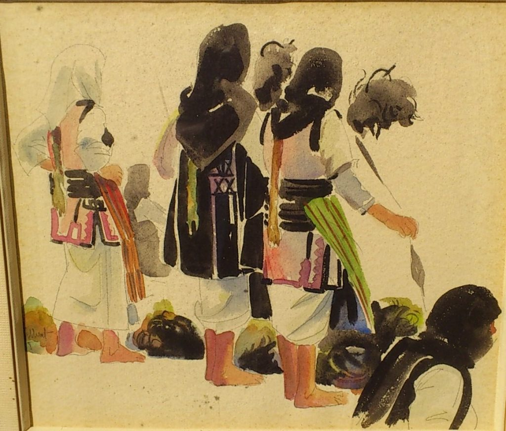 Charles-Gilbert-1906-2000Skopje-1958-folk-dresses-watercolors..