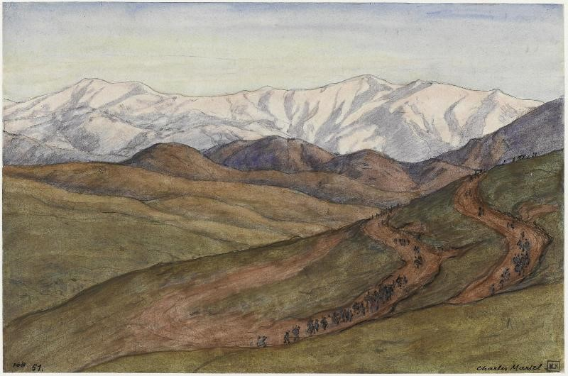 Charles Martel (1869-1922) Ostrovo near Voden, 1919, watercolor