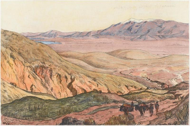 Charles Martel (1869-1922) Ostrovo near Voden (Vodena), 1919, watercolor