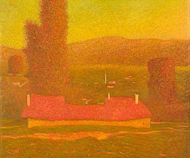 """Gustav Wunderwald (1882-1945) """"Mazedonische Landschaft)"""" c.1918"""