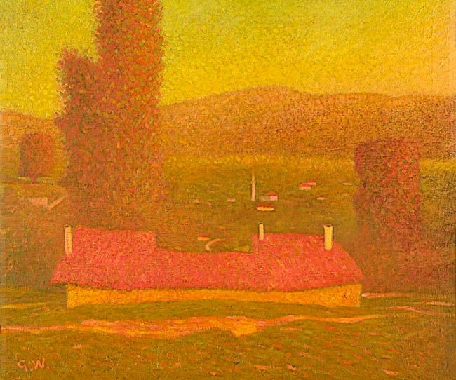 "Густав Вундервалд (1882-1945) "" Македонски пејсаж"" (""Mazedonische Landschaft"") 1918"