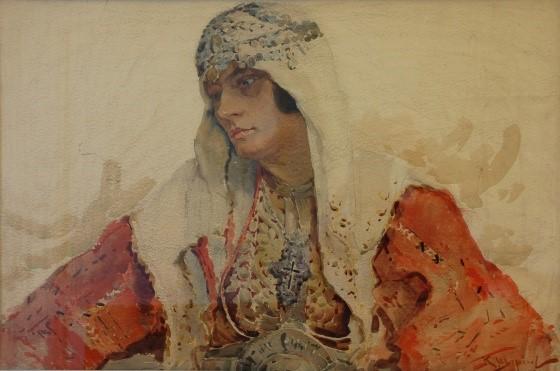 Македонка 1926, акварел