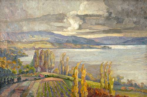 Constantinos-Maleas-1879-–1928-Landscape-in-Northern-Greece-possibly-Khalkidhiki-1914