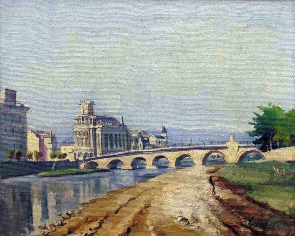 Danyo Chokanov (1901-1982),Skopje 1942 oil on canvas