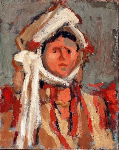 Djordje Andrejevic Kun (1904 -1964),Macedonian Woman 1946 oil on canvas