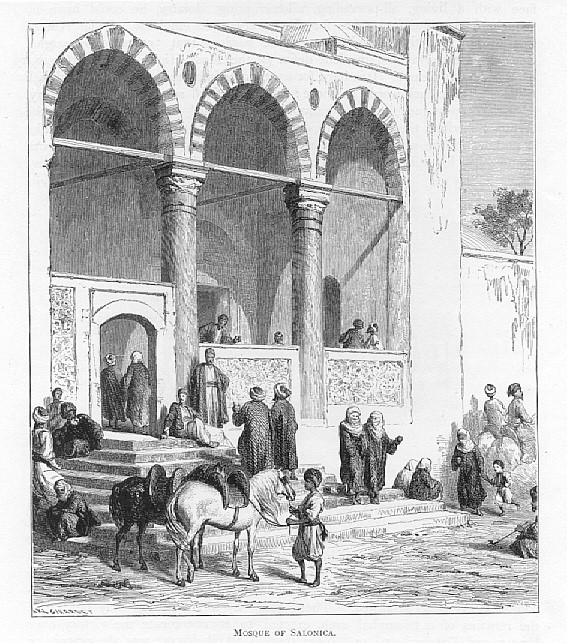 Edward-Whymper-1840-1911-Mosque-in-Salonika-1883-wood-engraving.