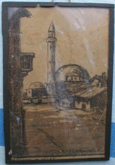 Erich-Emmo-Roteutschers1886-Mosque-in-Veles-Mazedonien-chalkoal-drawing