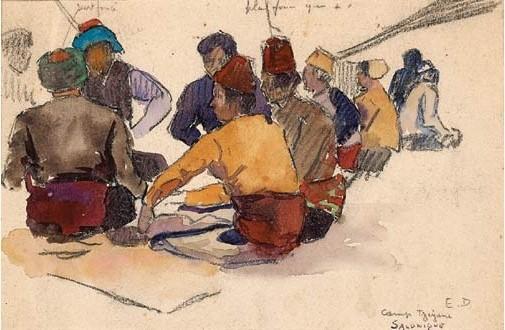 Ромски камп Солун 1917