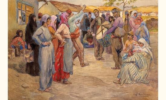 Ромски танц Солун 1917