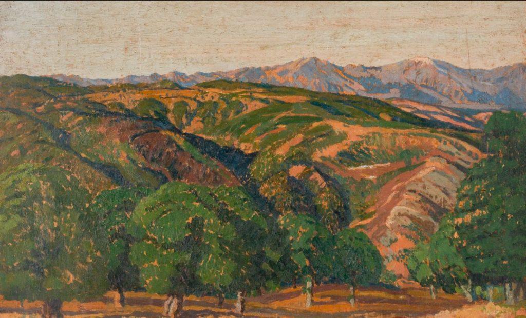 F.M du Buzon (1879-1958) Landscape in Macedonia 1923