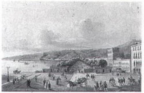 Поглед на Солунскиот залив 1854, акварел