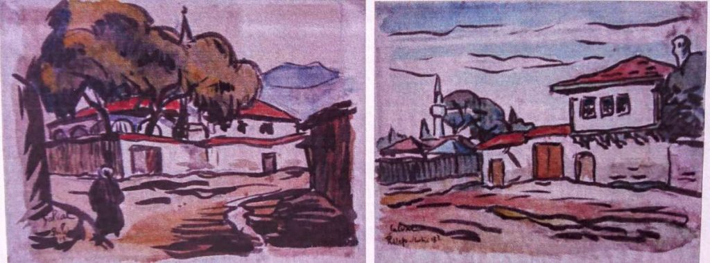 Francois-Salvat-1892-1976Prilep-1918-watercolors