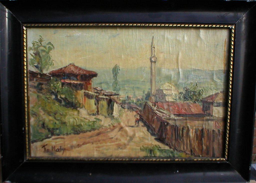 Frantisek-Maly-1900-–1980-Village-Nerezi-near-Skopje-1935-oil-on-canvas
