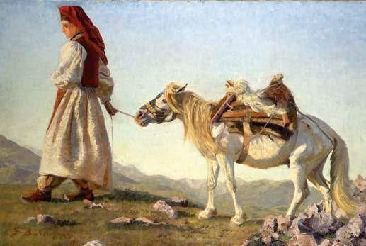 Македонска селанка 1911, масло на платно