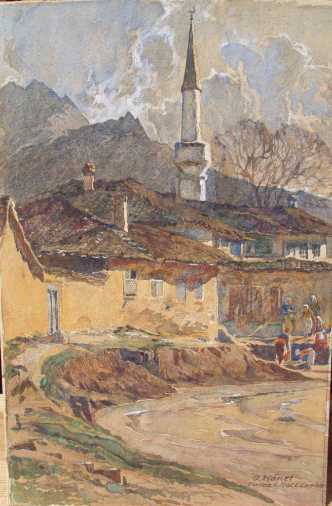 Georg Hänel 1879-1945 Prilep around 1918 watercolor