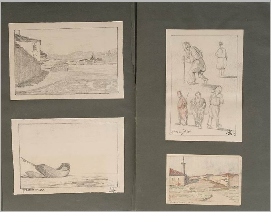 Georg-Wagner-1875-My-War-Years-1914-1918-Drawings-and-watercolors-from-Macedonia.