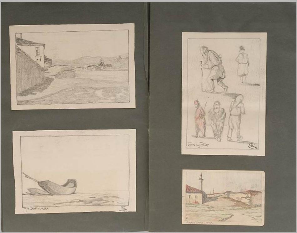 """""""Мојот Воен Дневник 1914-1918"""", Цртежи и акварели од Македонија"""