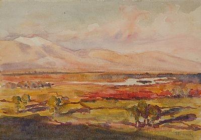 George Sapper Bain (1881 -1968), Army Camp-Valley, Salonika 1918, watercolors-2