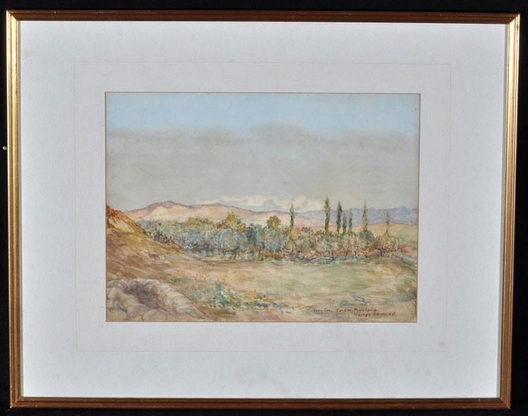 George Sapper Bain (1881 -1968), Vardar Macedonia 1918, watercolor