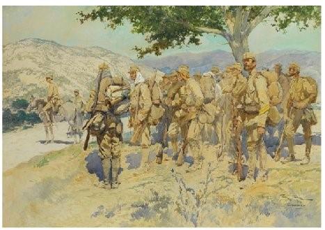 Georges-Scott-1873-1942-Greek-Solders-at-Kresna-1913-watercolor