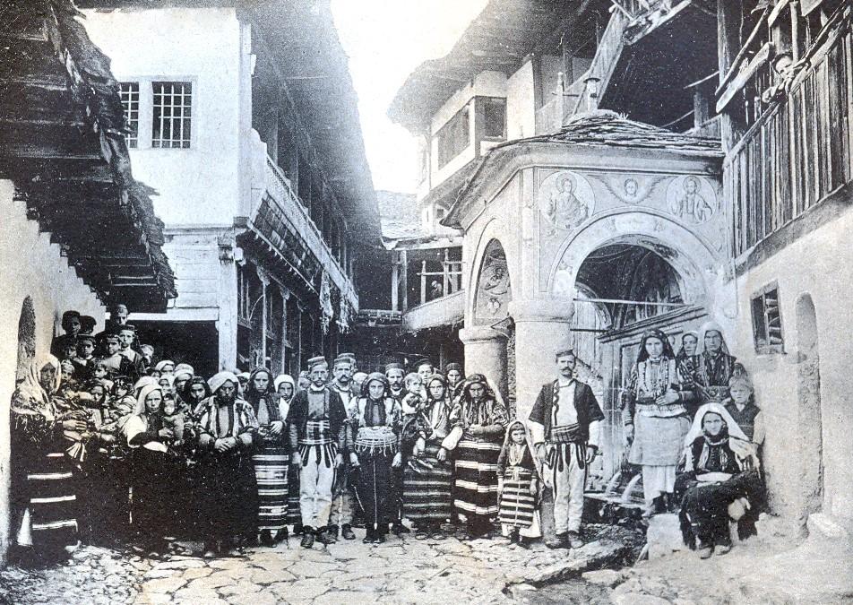 "Georgi-Traichev-1880-1935-Photo-Album-""St.-Jovan-Bigorski-Monastery""-1908."