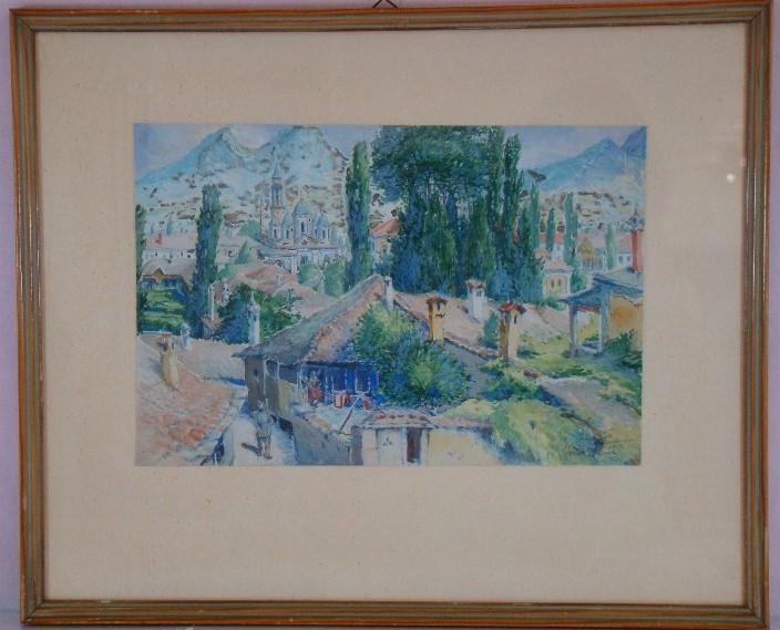 Gotthard Bauer (1887 -1976),Prilep 1917, watercolor