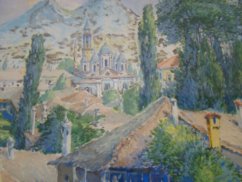 Gotthard Bauer (1887 -1976),Prilep 1917, watercolor1