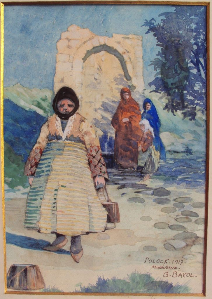 Gustave Bayol (1859 -1931), Macedonian girls, Polock and Salonica 1917, watercolors