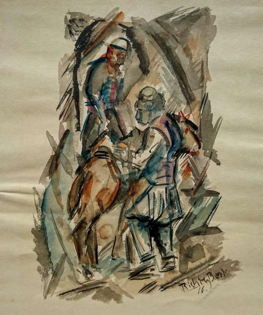 """Heinrich-Richter-Berlin-1884-1981""""-Uskub-1917""""-watercolors-Ушкуб-1917-акварели-1"""