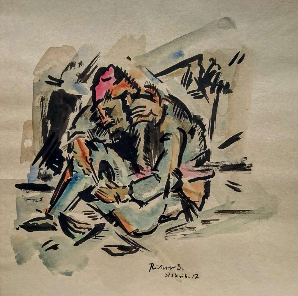 """Heinrich-Richter-Berlin-1884-1981""""-Uskub-1917""""-watercolors-Ушкуб-1917-акварели"""