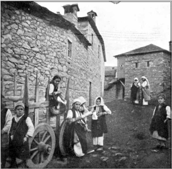 Богато село Брусник крај Битола, 1904, фотографија
